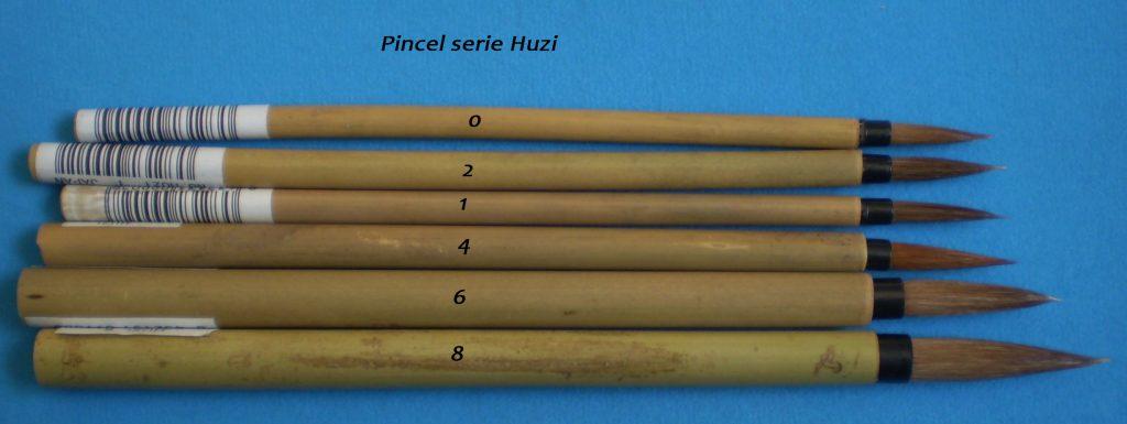 Pinceles chinos serie Huzi