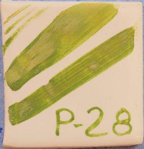 Óxido colorante verde victoria P-28